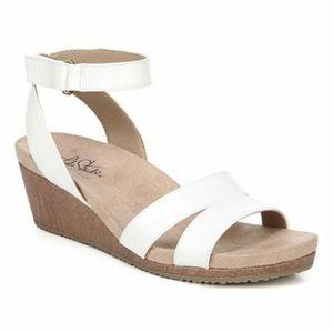 Life Stride Athena White Sandals Women 8 M